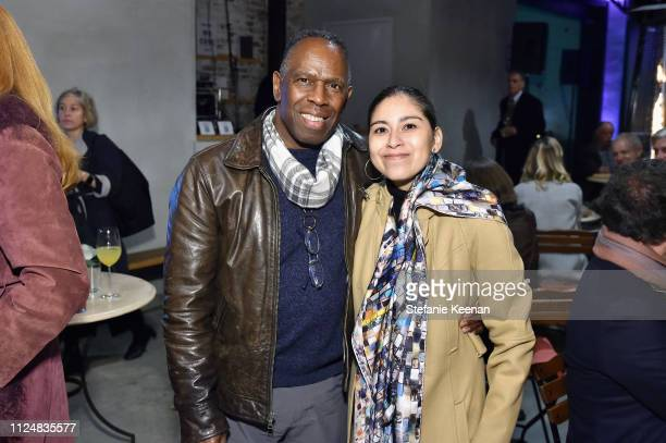 Charles Gains and Roxana Landaverde attend Hauser Wirth Los Angeles Opening of Annie Leibovitz and Piero Manzoni and Musical Performance by Patti...