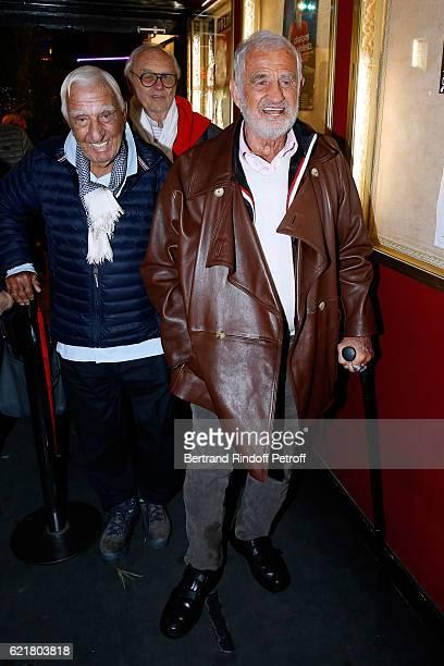 Charles Gerard Christian Brincourt and JeanPaul Belmondo attend LouisMichel Colla the Director of the Theatre de la Gaite Montparnasse Celebrates his...