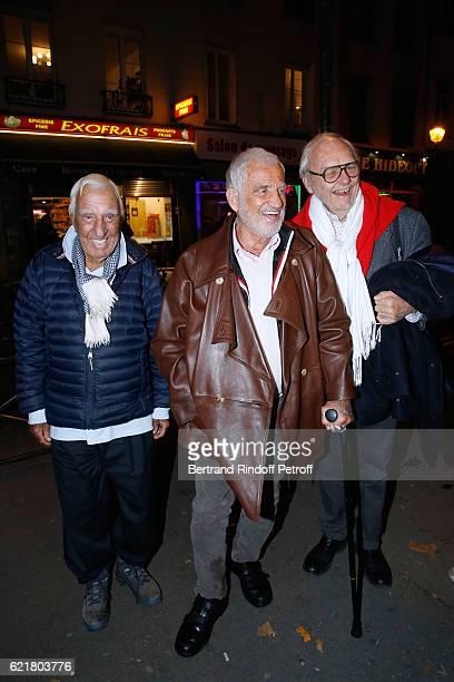 Charles Gerard JeanPaul Belmondo and Christian Brincourt attend LouisMichel Colla the Director of the Theatre de la Gaite Montparnasse Celebrates his...