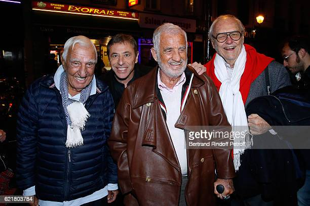 Charles Gerard LouisMichel Colla JeanPaul Belmondo and Christian Brincourt attend LouisMichel Colla the Director of the Theatre de la Gaite...