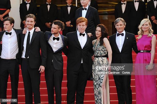 Charles Gillibert Garret Hedlund Tom Sturridge Danny Morgan Kristen Stewart Viggo Mortensen and Kirsten Dunst at the premiere for 'On The Road'...