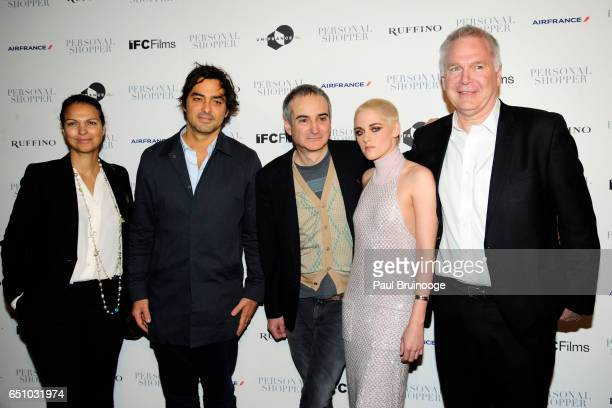 Charles Gillibert Olivier Assayas and Kristen Stewart attend the 'Personal Shopper' New York Premiere at Metrograph on March 9 2017 in New York City