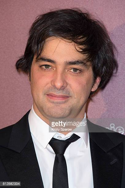 Charles Gillibert poses with his award for Best Feature Film for the movie 'Mustang' during The Cesar Film Awards 2016 at Theatre du Chatelet on...