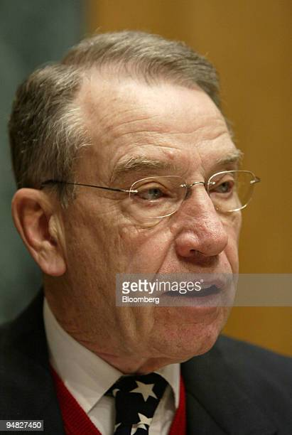 Charles Grassley chairs a hearing of the Senate Finance Committee Tuesday March 1 in Washington DC