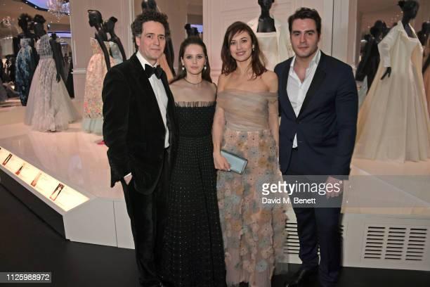 Charles Guard Felicity Jones Olga Kurylenko and Ben Cura attend a gala dinner celebrating the opening of the Christian Dior Designer of Dreams...