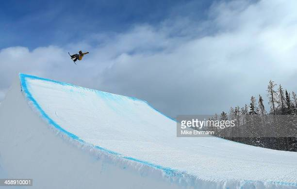 Charles Guldemond competes during finals for the FIS Snowboard Slopestyle World Cup at U.S. Snowboarding and Freeskiing Grand Prix on December 22,...