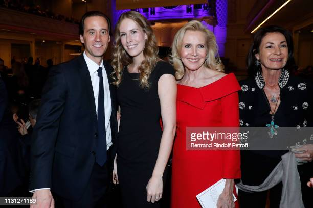 Charles Guyot Charlotte Bouygues Melissa Bouygues and Valerie Breton attend the Fondation Prince Albert II De Monaco Evening at Salle Gaveau on...