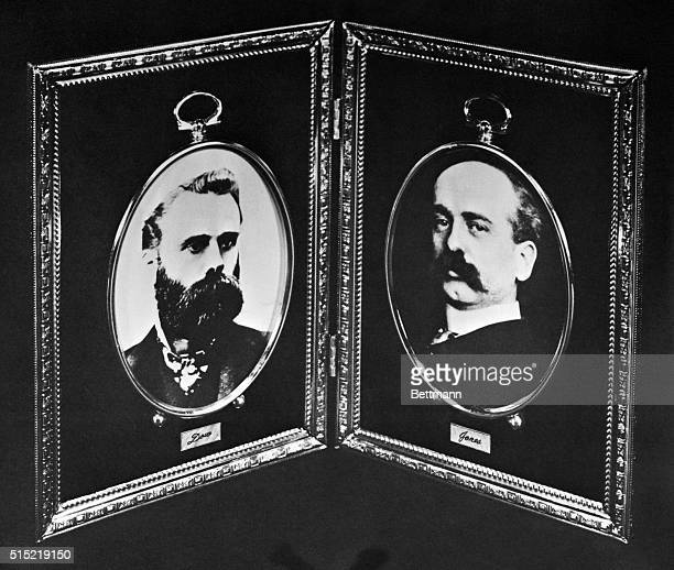Charles H Dow and Edward T Jones founders of Dow Jones and Company which first published the Wall Street Journal in 1889 Undated