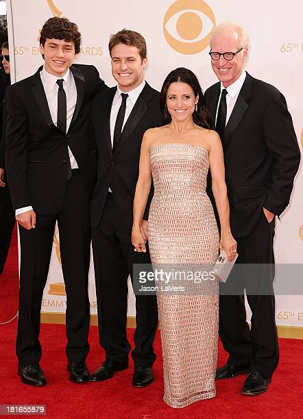 Charles Hall Henry Hall actress Julia LouisDreyfus and writer Brad Hall attend the 65th annual Primetime Emmy Awards at Nokia Theatre LA Live on...