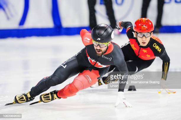 Charles Hamelin of Canada skates during the ISU World Cup Short Track Calgary at the Olympic Oval on November 3 2018 in Calgary Alberta Canada Photo...