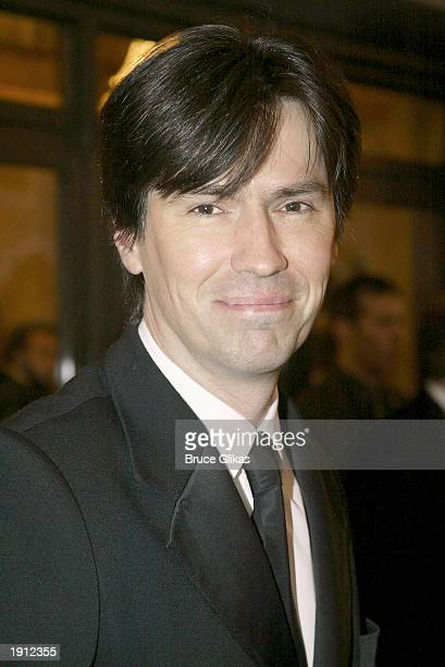 Charles Hart who wrote the lyrics for the Broadway musical Phantom of the Opera arrives at the premiere of the musical Nine playing on Broadway at...