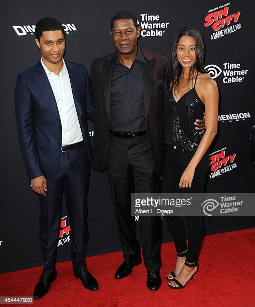 Charles Haysbert actor Dennis Haysbert and Katharine Haysbert arrive for the Premiere Of Dimension Films' Sin City A Dame To Kill For held at the TCL...
