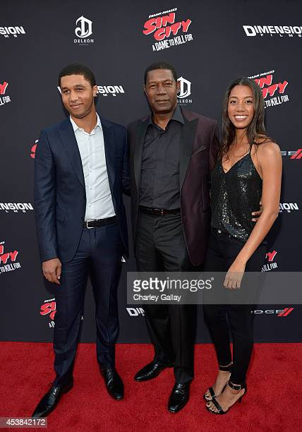 Charles Haysbert actor Dennis Haysbert and Katharine Haysbert attend SIN CITY A DAME TO KILL FOR premiere presented by Dimension Films in partnership...