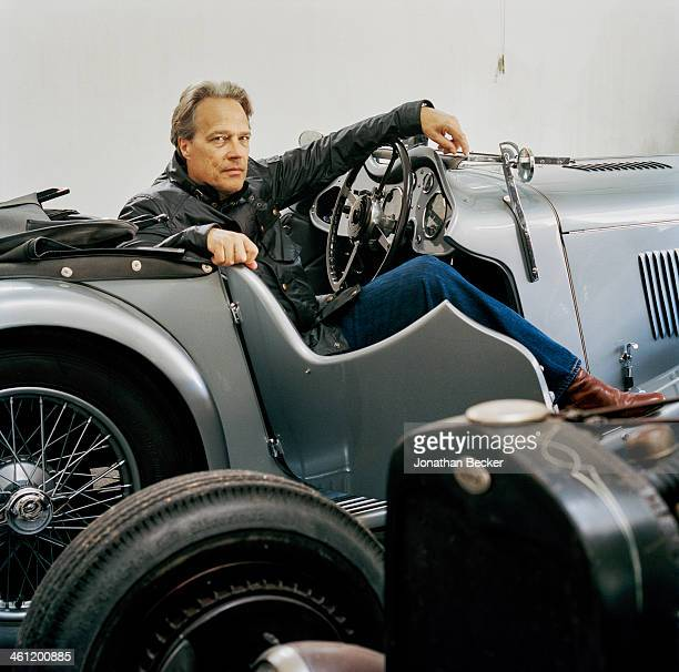 Charles Henry Gordon Lennox Earl of March is photographed in his 1935 AC 16/80 prototype for Vanity Fair Magazine on June 27 2012 in Chichester...