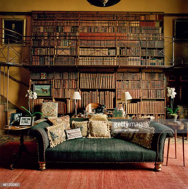 Charles Henry Gordon Lennox's study is photographed for Vanity Fair Magazine on June 27 2012 at Goodwood in Chichester England PUBLISHED IMAGE
