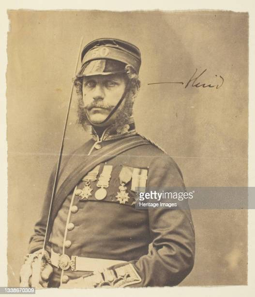 Charles Hind, General, 1855. A work made of thinly albumenized print. Artist Roger Fenton.