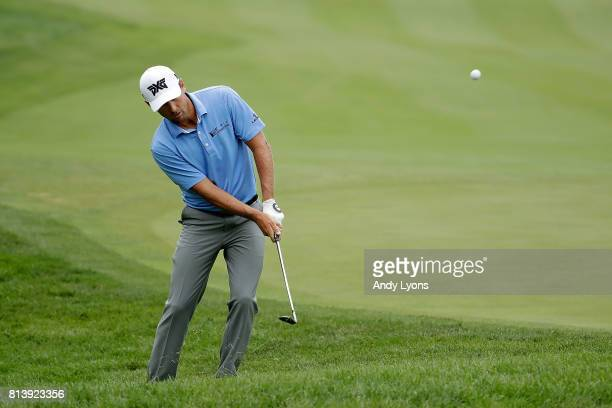 Charles Howell III chips to the 15th green during the first round of the John Deere Classic at TPC Deere Run on July 13 2017 in Silvis Illinois