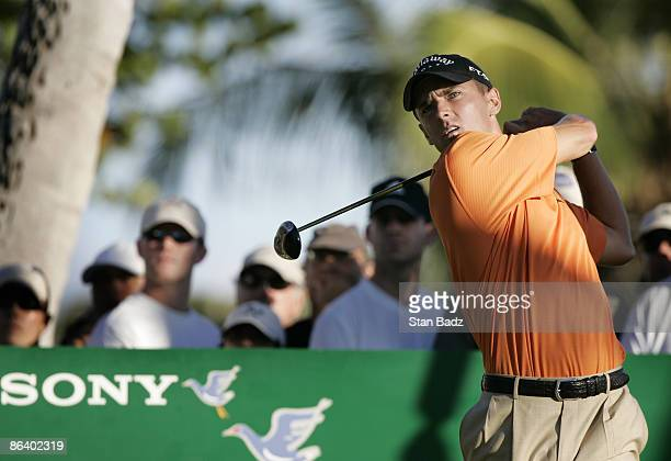 Charles Howell III during the fourth and final round of the Sony Open in Hawaii held at Waialae Country Club in Honolulu Hawaii on January 14 2007