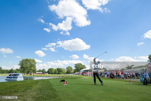 Charles Howell III hits a shot on the sixteenth tee box during the third round of the Rocket Mortgage Classic at Detroit Golf Club on June 29, 2019...