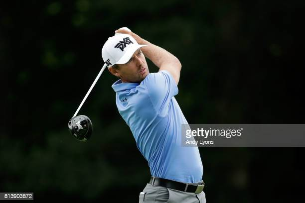 Charles Howell III hits his tee shot on the 13th hole during the first round of the John Deere Classic at TPC Deere Run on July 13 2017 in Silvis...