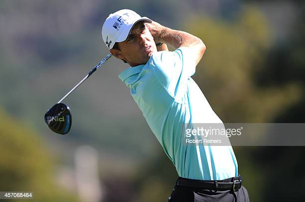 Charles Howell III hits his tee shot on the ninth hole during round three of the Fryscom Open at Silverado Resort and Spa on October 11 2014 in Napa...