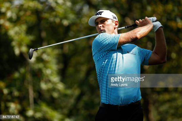 Charles Howell III hits his tee shot on the ninth hole during the second round of the BMW Championship at Conway Farms Golf Club on September 15 2017...