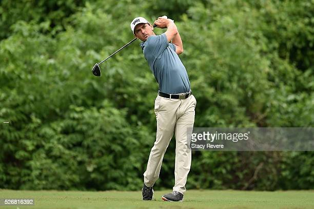 Charles Howell III hits his tee shot on the second hole during a continuation of the third round of the Zurich Classic at TPC Louisiana on May 1 2016...