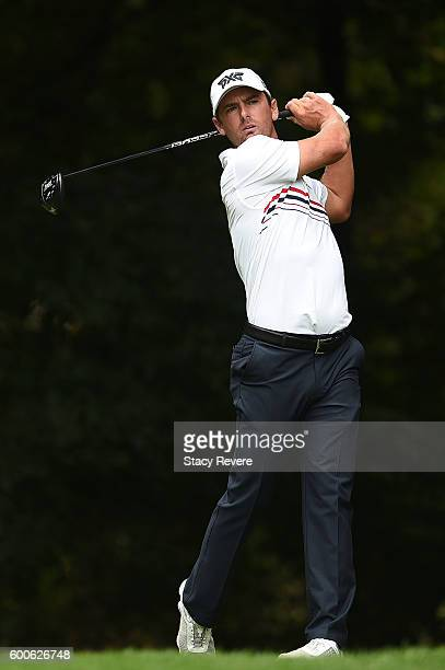 Charles Howell III hits his tee shot on the second hole during the first round of the BMW Championship at Crooked Stick Golf Club on September 8 2016...