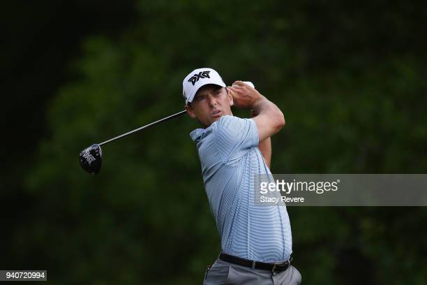 Charles Howell III hits his tee shot on the second hole during the final round of the Houston Open at the Golf Club of Houston on April 1 2018 in...