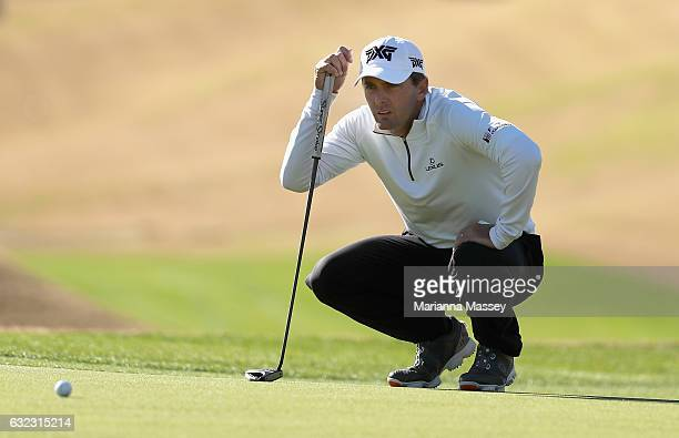 Charles Howell III lines up a putt on the fourth hole during the third round of the CareerBuilder Challenge in Partnership with The Clinton...