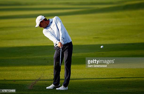 Charles Howell III of the United States hits an approach shot on the first hole during the first round of the Arnold Palmer Invitational presented by...