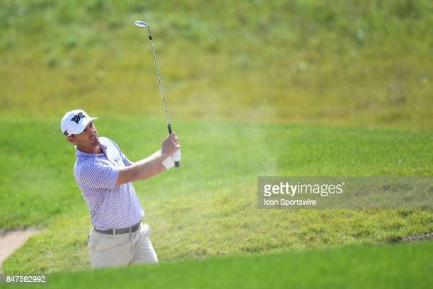 Charles Howell III of the United States hits from the bunker on the seventh hole during the First Round of the BMW Championship on September 14 at...