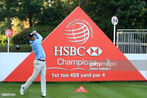 Charles Howell III of the United States plays a shot during the proam prior to the WGC HSBC Champions at Sheshan International Golf Club on October...