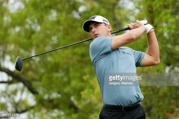 Charles Howell III of the United States plays his shot from the sixth tee during the fourth round of the World Golf ChampionshipsDell Match Play at...