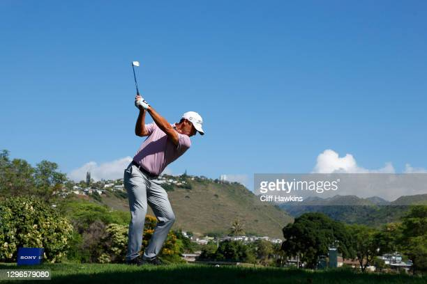 Charles Howell III of the United States plays his shot from the seventh tee during the second round of the Sony Open in Hawaii at the Waialae Country...