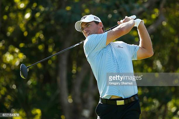 Charles Howell III of the United States plays his shot from the seventh tee during the first round of the OHL Classic at Mayakoba on November 10 2016...