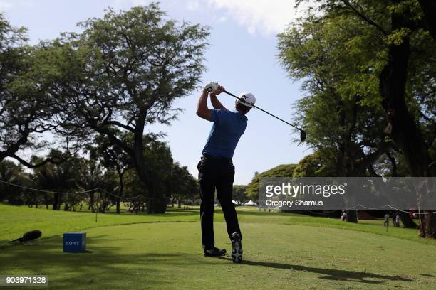 Charles Howell III of the United States plays his shot from the eighth tee during round one of the Sony Open In Hawaii at Waialae Country Club on...