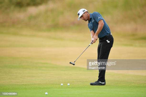Charles Howell III of the United States putts during previews to the 147th Open Championship at Carnoustie Golf Club on July 16 2018 in Carnoustie...