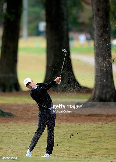 Charles Howell III of the United States takes his second shot on the sixth hole during round one of the Sanderson Farms Championship at The Country...