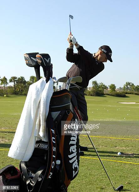 Charles Howell III on the driving range at the 2006 Honda Classic March 7 at the Country Club at Mirasol in Palm Beach Gardens Florida