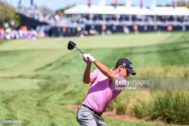 Charles Howell III plays his shot from the 18th tee during the second round of the Arnold Palmer Invitational presented by MasterCard at Bay Hill...