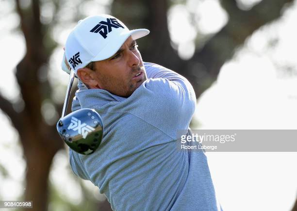 Charles Howell III plays his shot from the third tee during the final round of the CareerBuilder Challenge at the TPC Stadium Course at PGA West on...