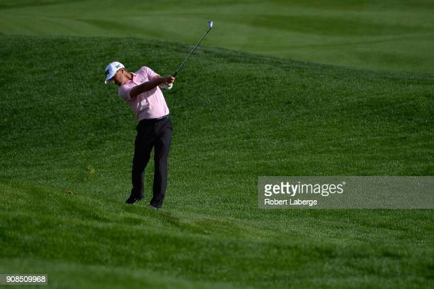 Charles Howell III plays his shot on the 15th hole during the final round of the CareerBuilder Challenge at the TPC Stadium Course at PGA West on...