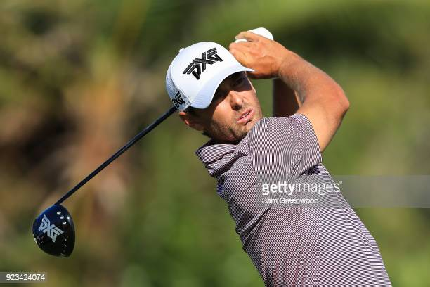 Charles Howell III plays his tee shot on the eighth hole during the second round of the Honda Classic at PGA National Resort and Spa on February 23...
