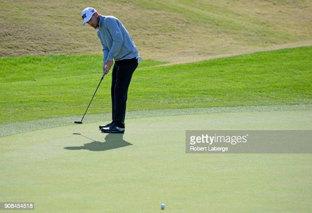 Charles Howell III putts on the second hole during the final round of the CareerBuilder Challenge at the TPC Stadium Course at PGA West on January 21...
