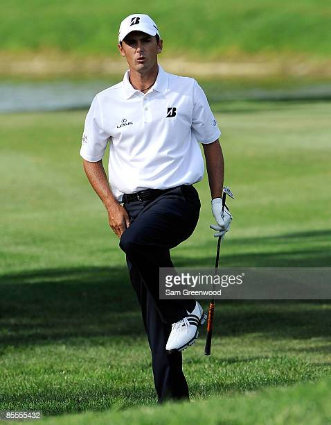 Charles Howell III reacts to a shot on the 16th hole during the final round of the Transitions Championship at the Innisbrook Resort and Golf Club on...