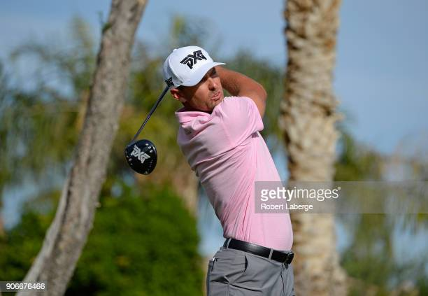 Charles Howell III tees off on the 11th hole during the first round of the CareerBuilder Challenge at the Jack Nicklaus Tournament Course at PGA West...