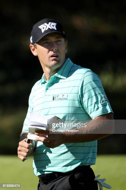 Charles Howell III walks across the sixth hole during the second round of the Genesis Open at Riviera Country Club on February 16 2018 in Pacific...