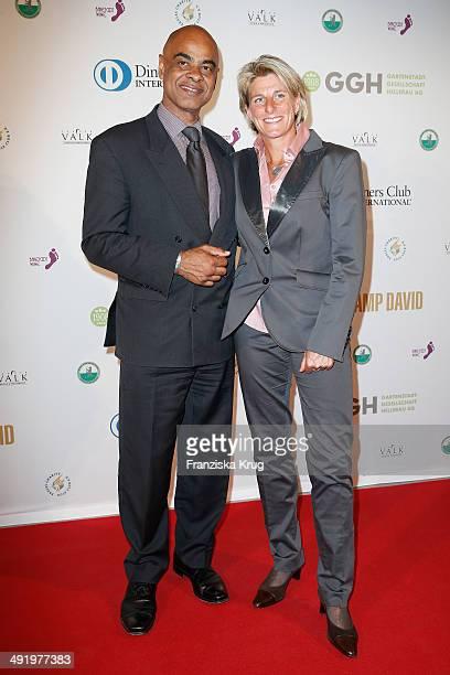 Charles Huber and Silke Rottenberg attend the 'Camp David Eagles Hauptstadt Golf Cup' Gala at Van der Valk Hotel Berlin Brandenburg on May 18 2014 in...