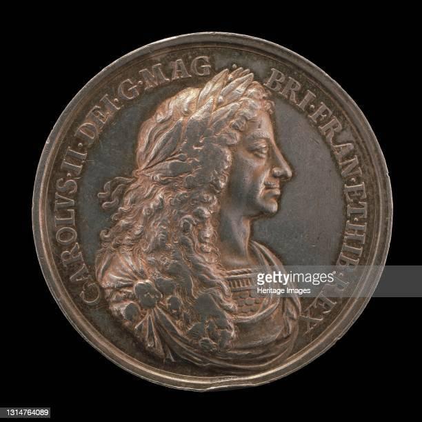 Charles II, 1630-1685, King of England 1660 [obverse], 1662. Artist Jan Roettiers.